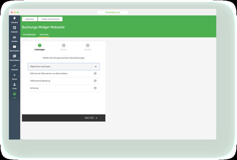 Termin- und Kursbuchung auf Ihrer Webseite